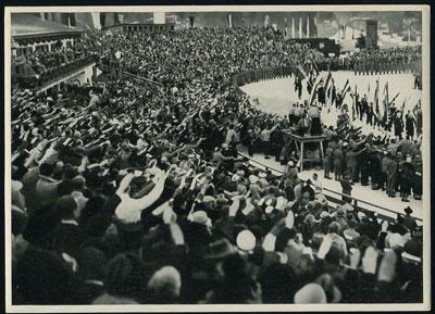 1936年德国柏林奥运会的彩色或黑白图片6枚图片