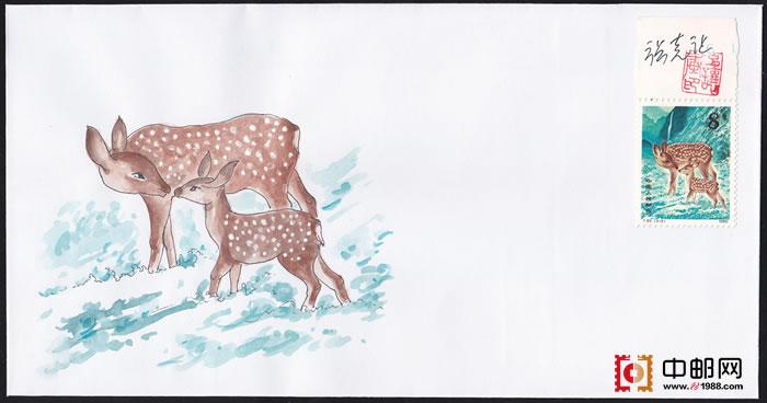 水彩画画梅花鹿教程步骤图