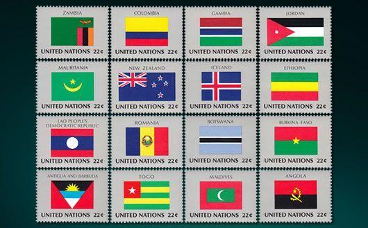 包含冰岛,安提瓜巴布达等16个国家国旗邮票,原胶全品,欢迎购买!