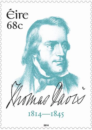 爱尔兰发行托马斯·戴维斯诞生200周年邮票