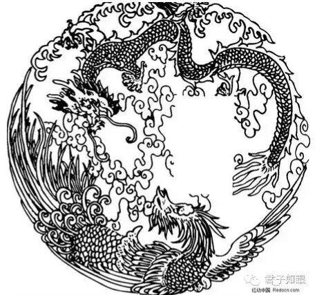 """与牡丹组成""""凤穿牡丹""""""""凤戏牡丹"""",常与莲花,宝相花,海棠,菊花等植物组"""