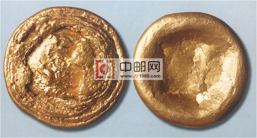 西汉金饼,直径64mm,重253克,珍罕
