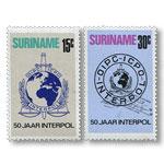 刑事警察组织50周年邮票 (苏里南,南美洲)