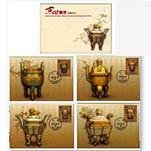 台湾2010年特553 古物邮票原图卡