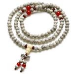 高密星月菩提隔红玛瑙108颗念珠手链(6mm)