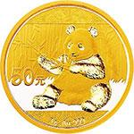 2017年熊猫3克圆形金质纪念币