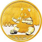 2017年熊猫8克圆形金质纪念币