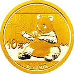 2017年熊猫1克圆形金质纪念币