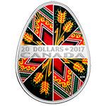 加拿大2017年乌克兰传统复活节彩蛋(2)彩色精制银币(需预定)
