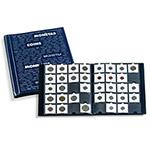 RA364 德国灯塔高级深蓝色纸夹钱币册