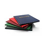 RD190 明泰(PCCB)V1.0普通方形纸夹册(200枚装)蓝黑色802290
