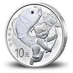 2017年吉祥文化(年年有余)30克圆形银质纪念币