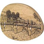 法国巴黎造币厂巴黎假期同心锁桥浪漫爱情异形大铜章