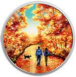 加拿大2017年户外运动(4)徒步日出彩色夜光精制银币(需预定)