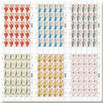 2014年香港粤剧戏曲服饰邮票(大版张含25套票)