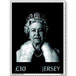 泽西岛英国女王登基60周年 全息激光异质邮票一枚(欧洲)
