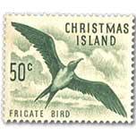 圣诞岛 鸟类 军舰鸟邮票1全