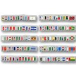 联合国1980-2014年发行的17组国旗邮票204枚全  (联合国)