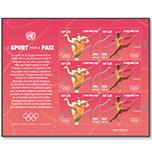 """联合国2016年""""运动促进和平""""奥运 体操邮票小版张"""