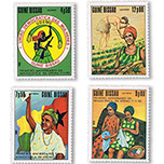 几内亚比绍1983年 农民耕作 国旗 妇女手工4全