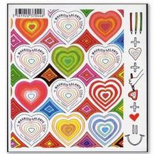 法国邮票 2011年情人节异型票小版张.爱心