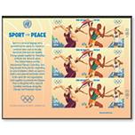 """联合国""""运动促进和平""""奥运会 田径 邮票小版张"""