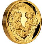 澳大利亚2011年澳洲内陆动物考拉2盎司精制纪念金币