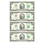 2美元4连体钞