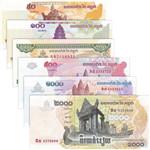 柬埔寨纸币6枚一套