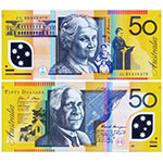 澳大利亚纸币50澳元