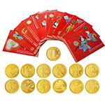 LP40048 康银阁2003-2014年第一轮十二生肖流通纪念币大全套