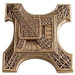 """法国巴黎造币厂杜弗莱""""埃菲尔铁塔""""俯瞰仰视异型大铜章"""