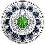 加拿大2017年星座(9)处女座水晶镶嵌彩色精制银币(需预定)