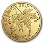 加拿大2017年1/25盎司枫叶精制小金币(需预定)