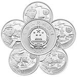 2017年中国人民解放军建军90周年圆形银质纪念币(5枚)