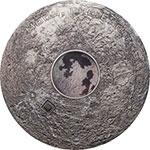 库克岛2017年3盎司(2)月地卫星彩色玻璃月球陨石仿古银币(需预定)