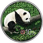 中国2016年熊猫镶嵌南丹陨石彩色纪念银币(需预定)