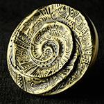 十二生肖剪纸系列--暖羊羊大铜章(40mm黄铜)