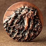 十二生肖剪纸系列--暖羊羊大铜章(40mm紫铜)