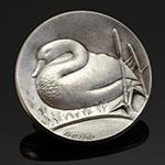 法国名章天鹅大银章(雕塑家佩拉邦)