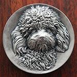 著名币章雕刻师王江浩作品——泰迪犬(Teday)121克 AG999银章