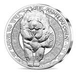 法国2018年20欧第二轮生肖(1)生肖狗年高浮雕精制银币(需预定)
