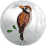 库克2017年欧洲手工卷纸艺术(2)纸鸟大直径精制银币