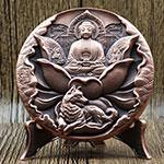 2018年中国金币总公司生肖狗年纪念小铜章(45mm)