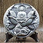 2018年中国金币总公司生肖狗年纪念小银章(45mm)