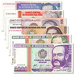 秘鲁6枚一套(10-5000印蒂)人物版套币