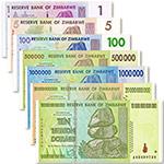 WGZB2869 津巴布韦7张/套(1-10万亿津元)套奇石版纸币(Zimbabwe 非洲)
