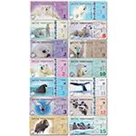 WGZB2871 北极14张枚大全套(1-6,8,9,10,11,12,15元) 塑料钞(Arctic 北极)