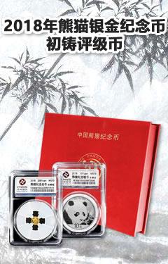 2018年熊猫银金纪念币
