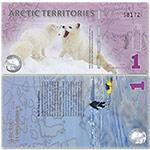 WGZB2873 北极1元塑料钞纸币(Arctic 北极)